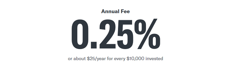 betterment annual fee