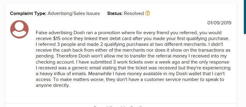dosh customer service