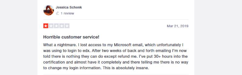 edx complaint