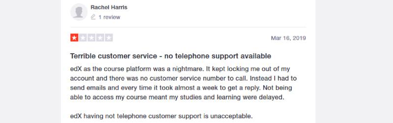 edx trustpilot complaints