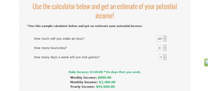 gaming jobs online calculator