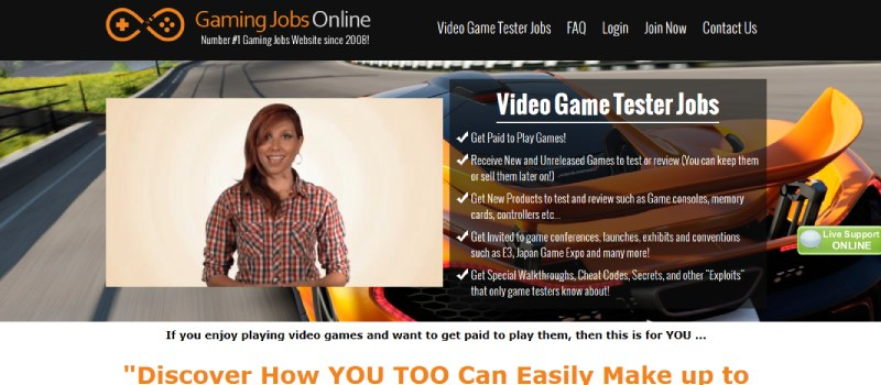 gaming jobs online homepage