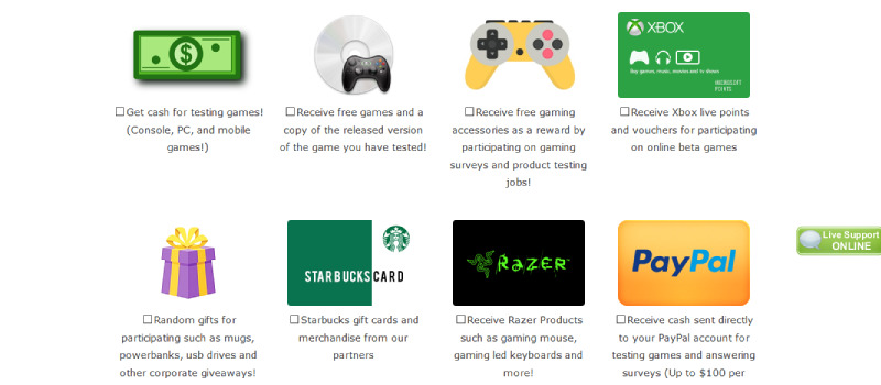 gaming jobs online rewards