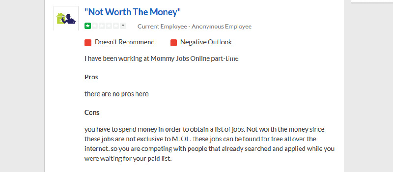 is mommy jobs online legit