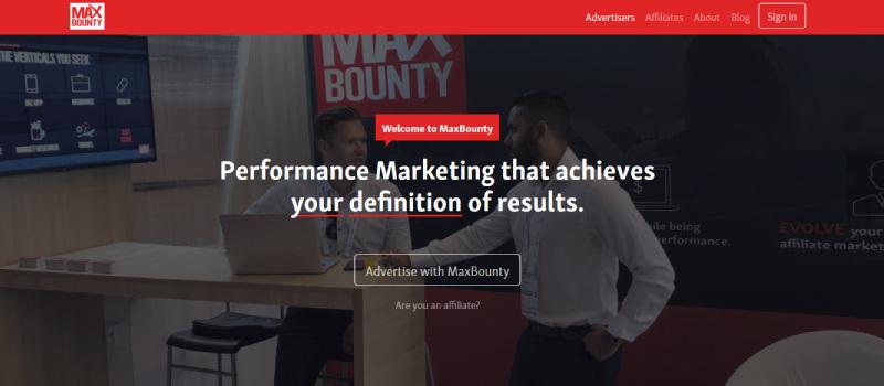 max bounty homepage