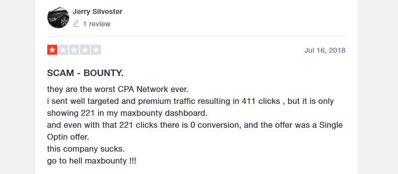 maxbounty complaint