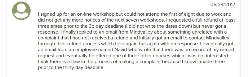 mindvalley complaint
