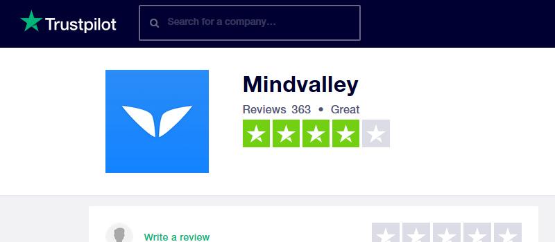 mindvalley trustpilot
