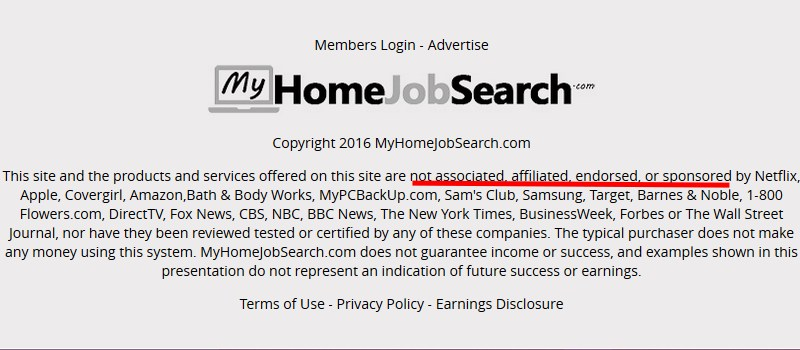 my home job search fake claims