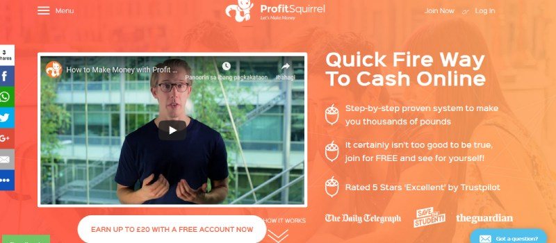 profit squirrel homepage