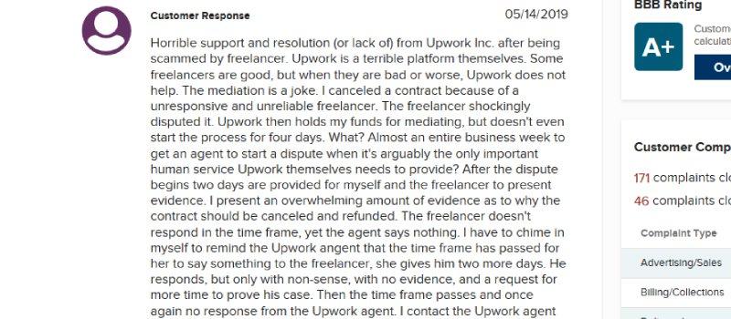 upwork complaint