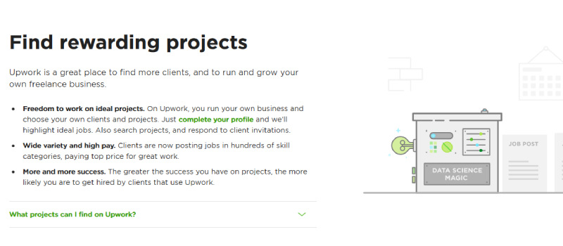 upwork find rewarding projects