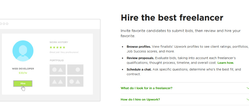 upwork hire the best freelancer
