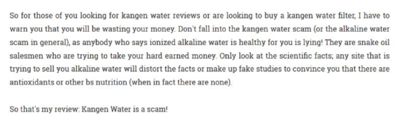 ceo movement enagic kangen water complaints