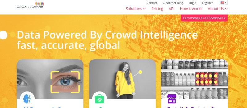 clickworker website homepage