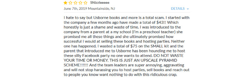 usborne books complaint