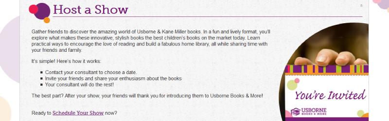 usborne books host a show