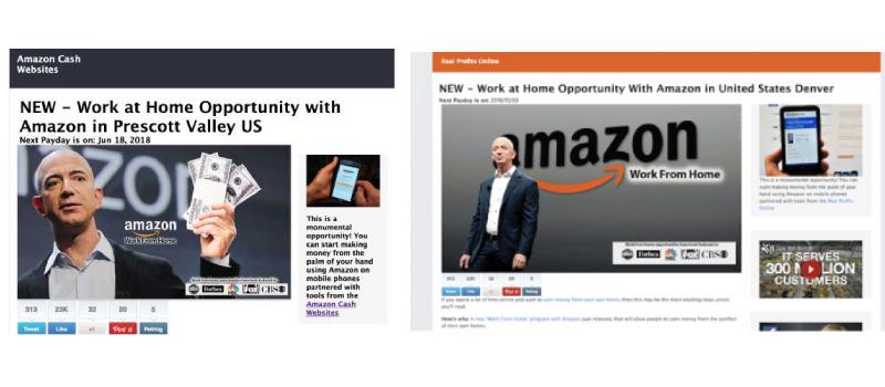 amazon cash websites real profits online