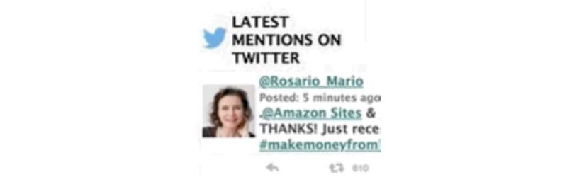 amazon cash websites tweets
