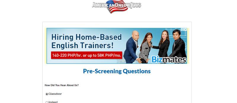 american online jobs homepage