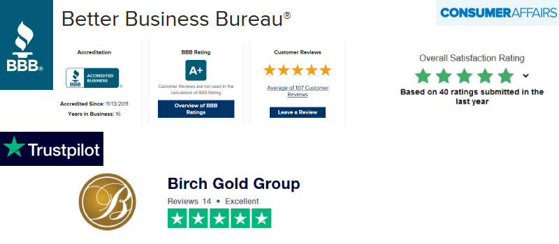 birch gold group positive ratings