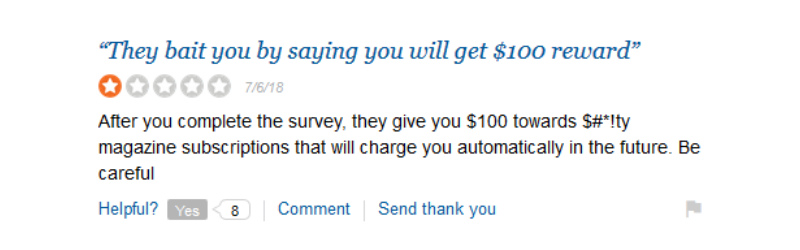 bizrate rewards complaint
