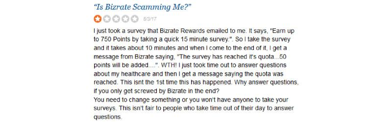bizrate rewards sitejabber complaint