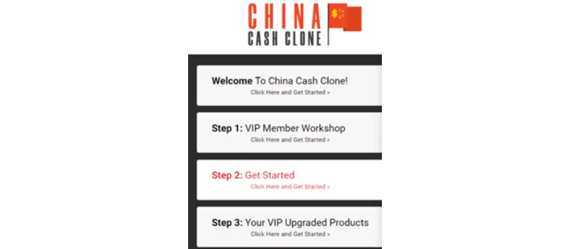 china cash clone dashboard