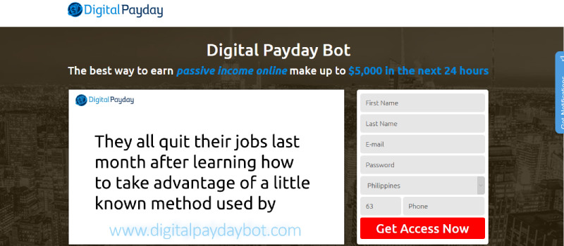 digital payday homepage