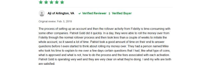 patriot gold group reviews
