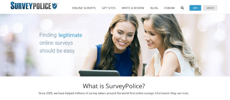 survey police homepage