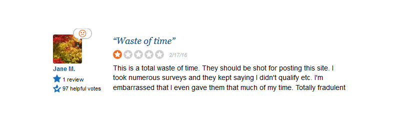 survey say complaint