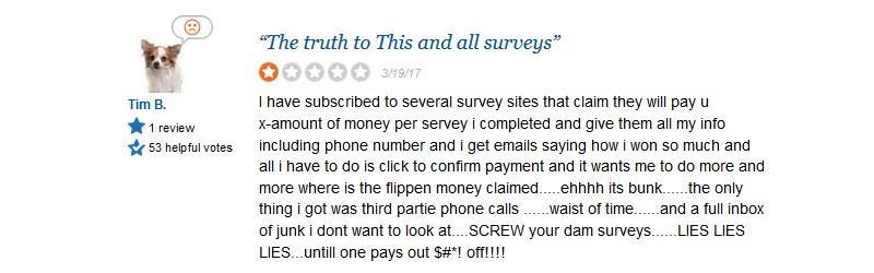 survey say complaints