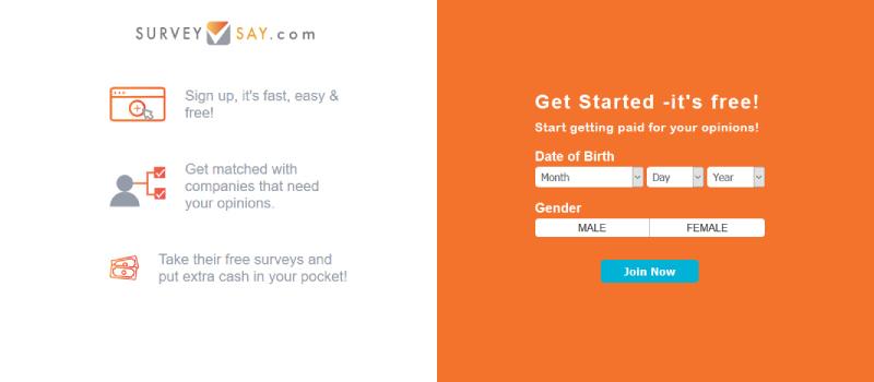 survey say homepage