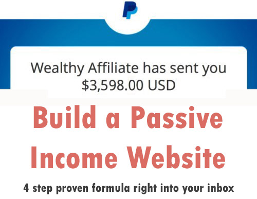 build a passive income website
