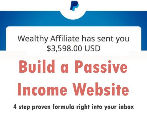 build a passive income website