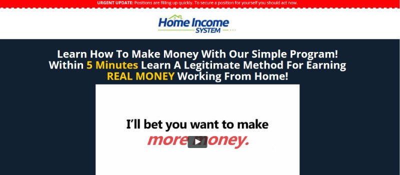 home income system homepage
