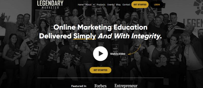 legendary marketer homepage