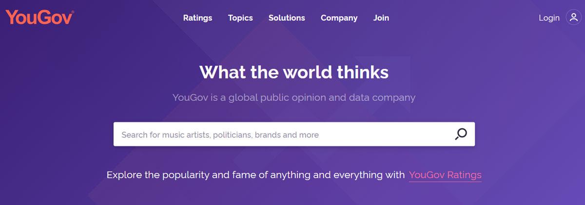 YouGov Surveys Review website
