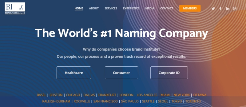 brand institute homepage