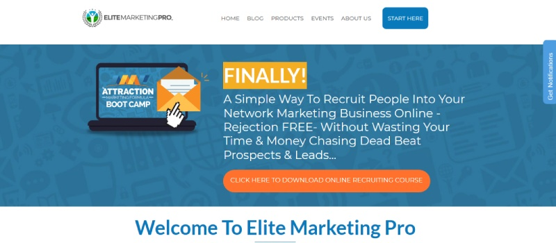 elite marketing pro homepage