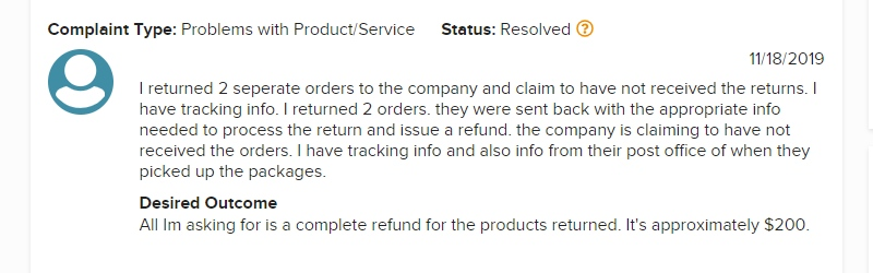 farmasi complaint on refund