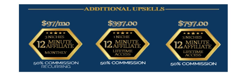 More 12 Minute Affiliate Additional Crazy Upsells