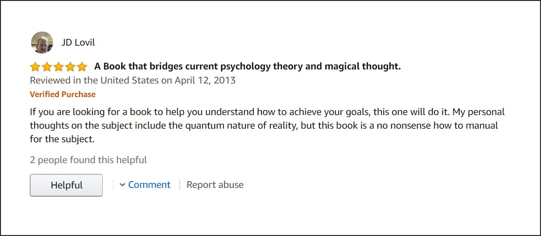A Book that bridges current psychology theory and magical thought.