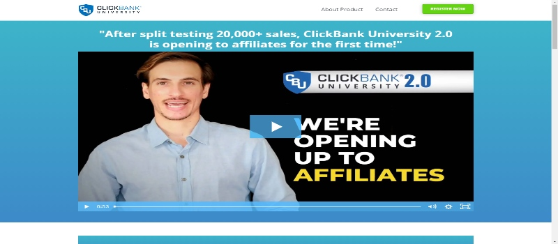 Clickbank University Homepage