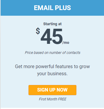 At Email Plus Plan, price starts at $45 only