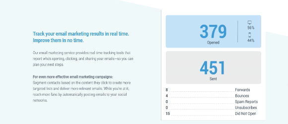 Efficient tracking for emails & ads