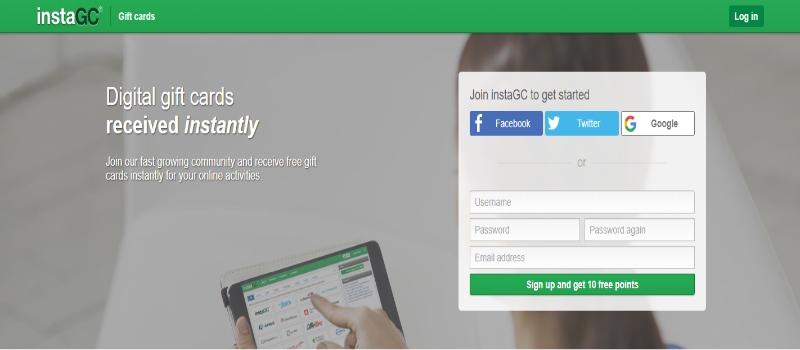 InstaGC Homepage