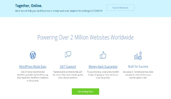 Build you website with Bluehost now, or join their affiliate team
