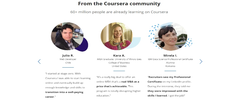 Coursera has already transformed 60+ million people from all walks of life
